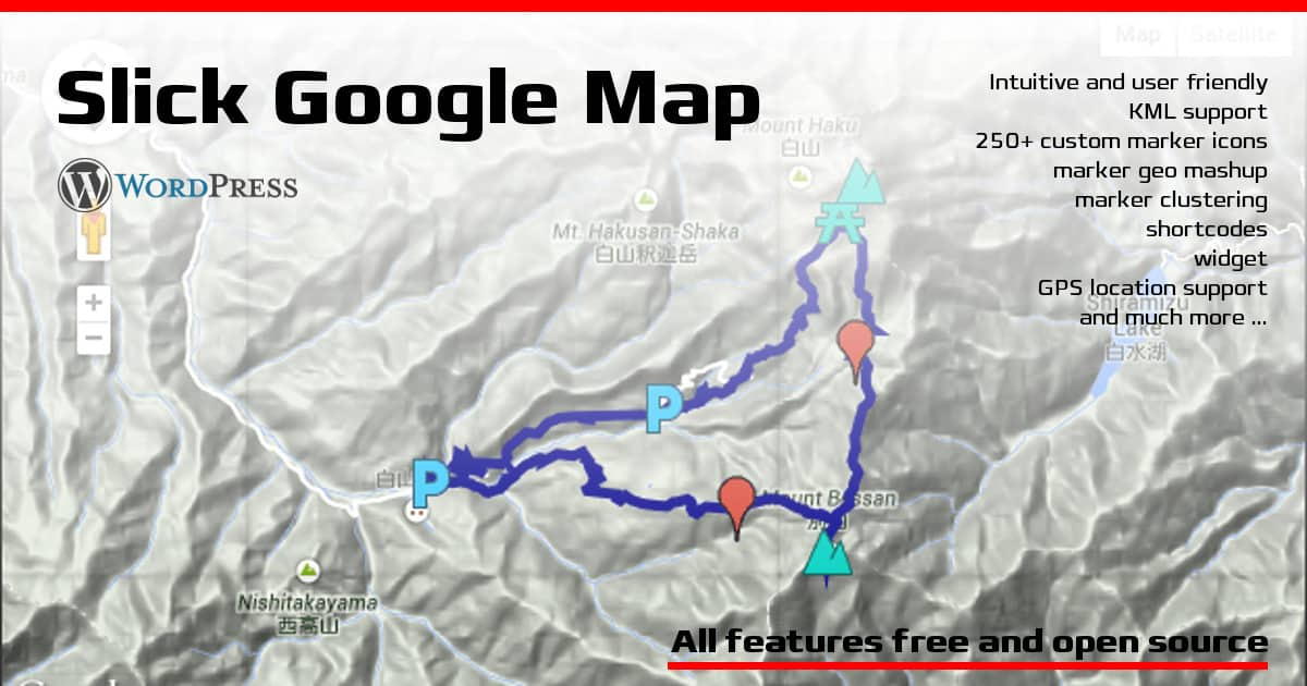 Slick Google Map Plugin There And Back Again - Japan map jquery