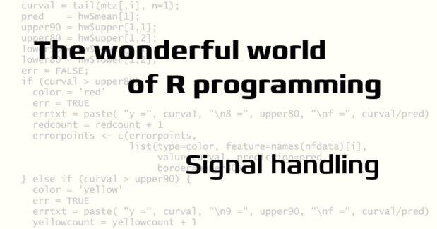 Signal handling in R