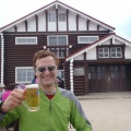 2012-09-28 012.JPG -- Beer on the way, good that it is already lunch time and we only have to walk a simple ridge to the final hut.