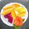 P1050767 -- enjoying Mango, fresh Mango in Ishigaki