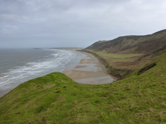 Rhossili beach on the tip of the Gower peninsula