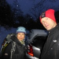 P1000699.JPG -- Since we arrived so late, we climbed till it was getting dark, in total 7 routes. The 30min back to the car on a very slippery road we hurried not to miss onsen and dinner.