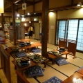 P1000703.JPG -- The place we stayed, Yukawa Onsen, is an excellent place. They provide ice climber reduction, and in fact on that evening only ice climbers were there.  Dinner and breakfast was excellent, and Masumi and I even got our meat-free diet. During the dinner we chatted with other ice climbers, got lots of good tips, and made new friends.