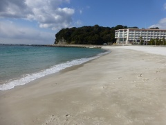 The white sand of Shirahama - imported from Australia