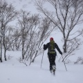 2013-02-25 006.JPG -- Snow fall and wind, paired with unknown route and sub-optimal conditions