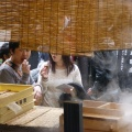 P1010549.JPG -- Enjoying Dango in Arima Onsen