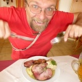 P1010837.JPG -- Well earned Gselchtes mit Knödel for Florian