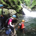 DSC02552.JPG -- Before entering the big pool below the Sannotaki 三ノ滝
