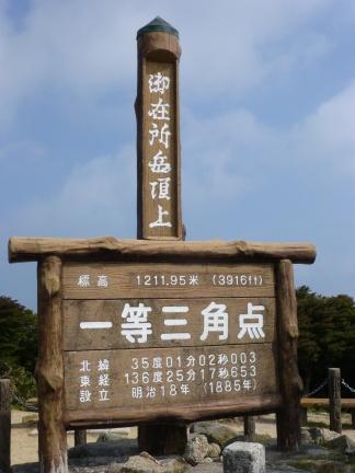 The top level land survey point