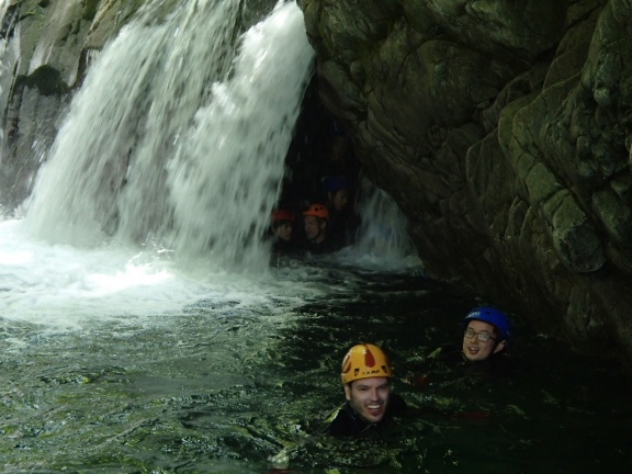 Back from an excursion under the water fall