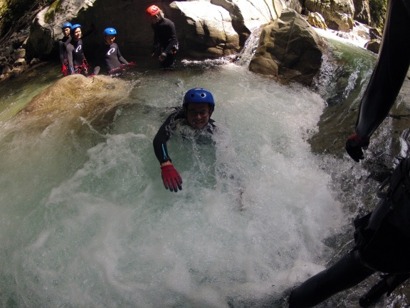 White water swimming