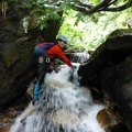 P1030904.JPG -- Masumi challenging a small waterfall