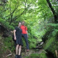 IMG_3439.JPG -- Moss covered stones and sweat covered men