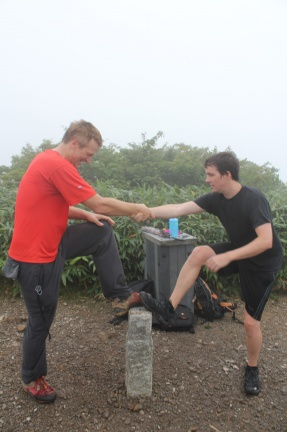Balance training on a land survey point - how inpious