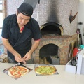 IMG_3464.JPG -- The master of the wood-fired pizza oven. Inspite of the closing down of the ski area he is continuing his business! Ganbatte kudasai!