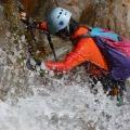 P1030952.JPG -- Masumi fighting up in one of the splish-splash waterfalls