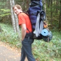 2013-10-14 002.JPG -- My backpack was a beast - sleeping bags for two, tent, food, climbing equipment, food, ...