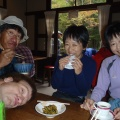 2013-10-14 009.JPG -- Break during a rain shower, hot soup, pickles, coffee, stupid face of mine