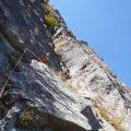 2013-10-14 043.JPG -- First pitch of the upper part - a long diedre