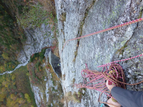 View from the belay down
