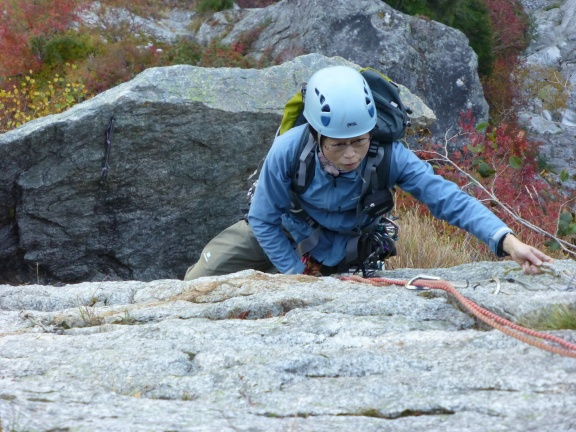 Masumi enjoying (?) the artif climbing