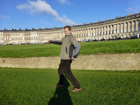 Norbert making fun of the Royal Crescent