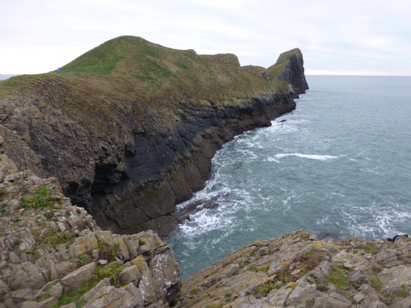 The last part of the Worms Head, and also easily to be seen where is the head