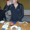 2014-01-13 011.JPG -- Well earned beer after driving from Kanazawa and climbing the first fall