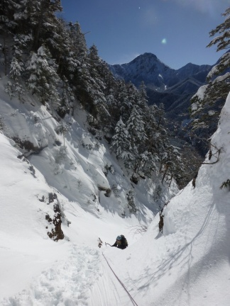 Again a long stretch of deep snow for the final challenge