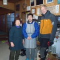 2014-01-13 050.JPG -- The great team of the hut, thanks for the excellent service!