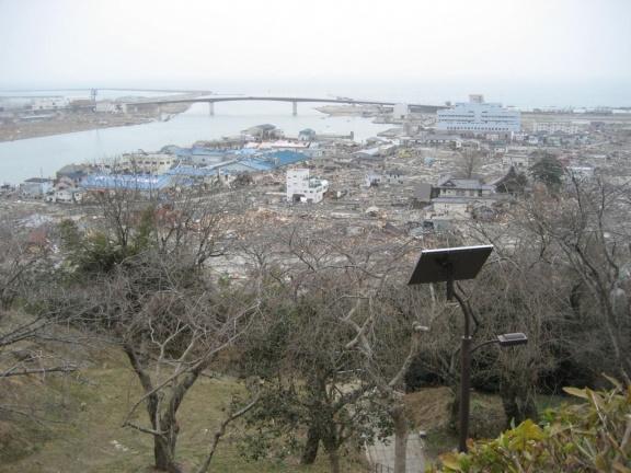 Destroyed low-area of Ishinomaki