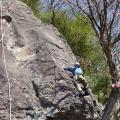 P1060109.JPG -- Masumi lead climbing