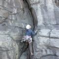"P1060226.JPG -- Climbing ""Jam School"" 5.9 - difficult for 5.9"