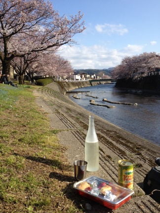 Bento, sake, olives, the perfect combination for hanami