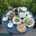 P1060650.JPG -- Udo dinner is ready - udo tempura, udo sashimi, udo kimpila