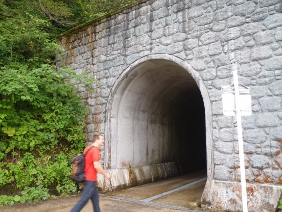 The old national street before the Gokayama-tunnel was build