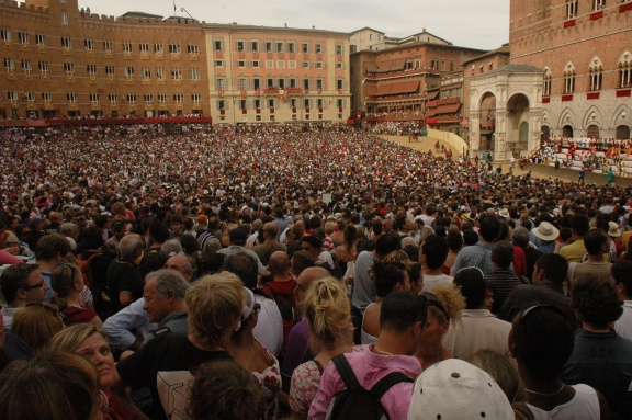 The Piazza del Campo is filled