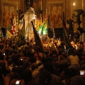 20080816_P_N_1738.JPG -- Celebrating the win in the church of the contrada, with horse.