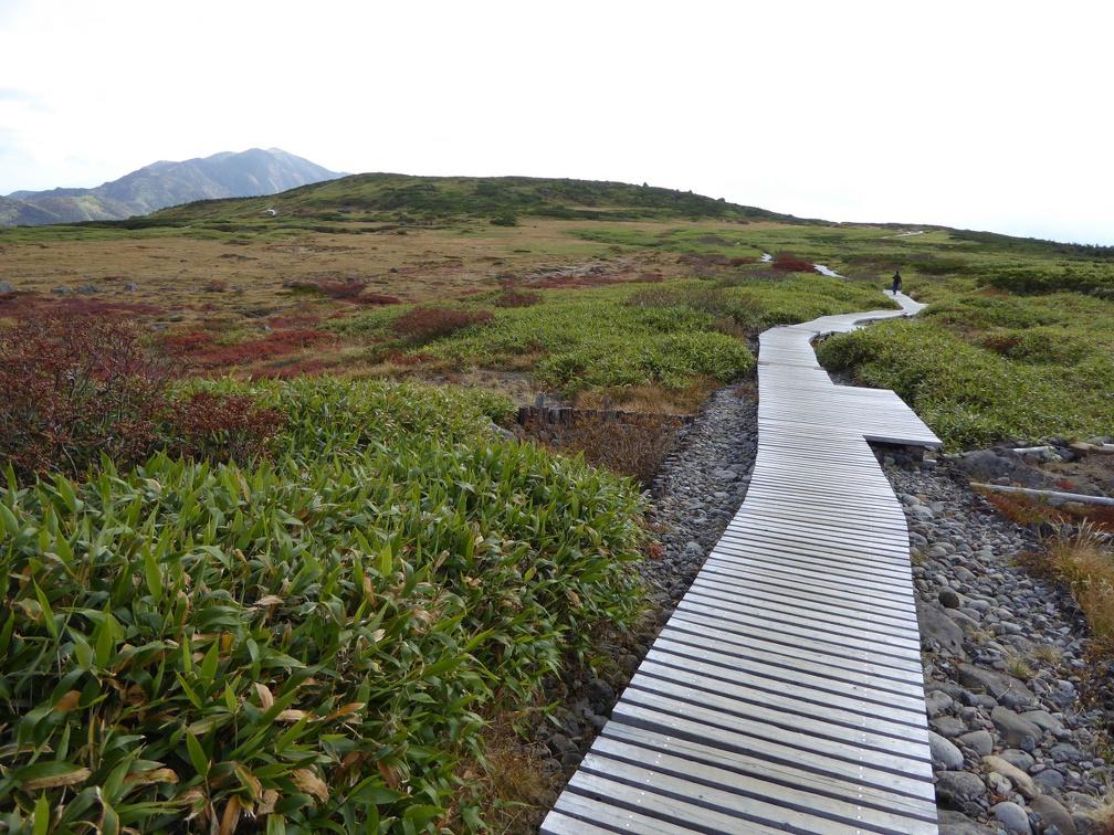The path through Midagahara below Murodo