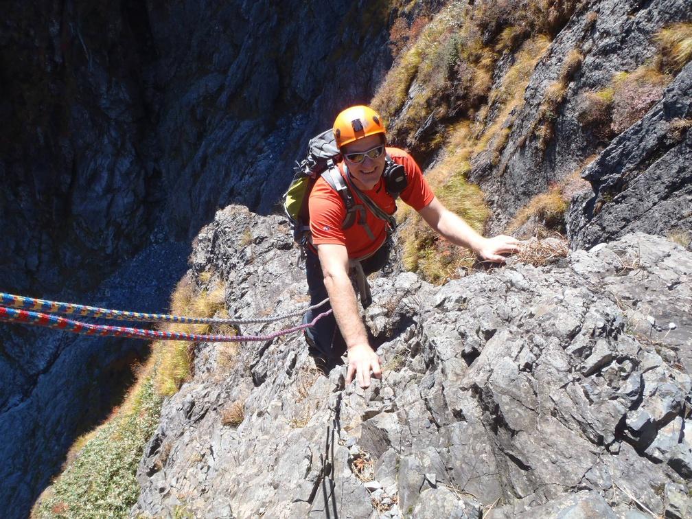 Enjoyable climbing on less than optimal rock