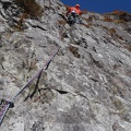 2014-10-20 080.JPG -- One of the more interesting and funny parts of the Middle Ridge - Matterhorn style sloper all the way