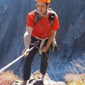 2014-10-20 095.JPG -- Ready for rappel, this time without shoes ;-)