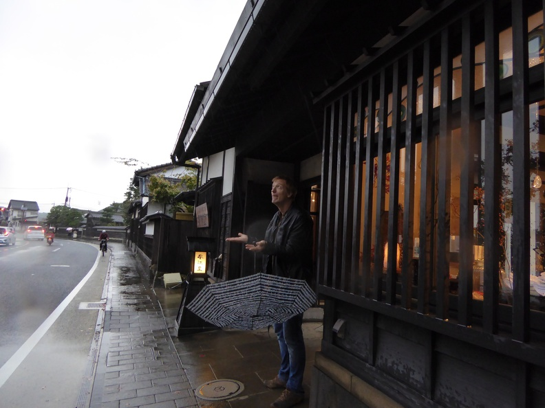 Rain is greeting us in Matsue