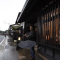 P1000573.JPG -- Rain is greeting us in Matsue