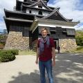 P1000782.JPG -- Me in front of Matsue Castle