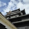 P1000790.JPG -- Outside detail of Matsue Castle