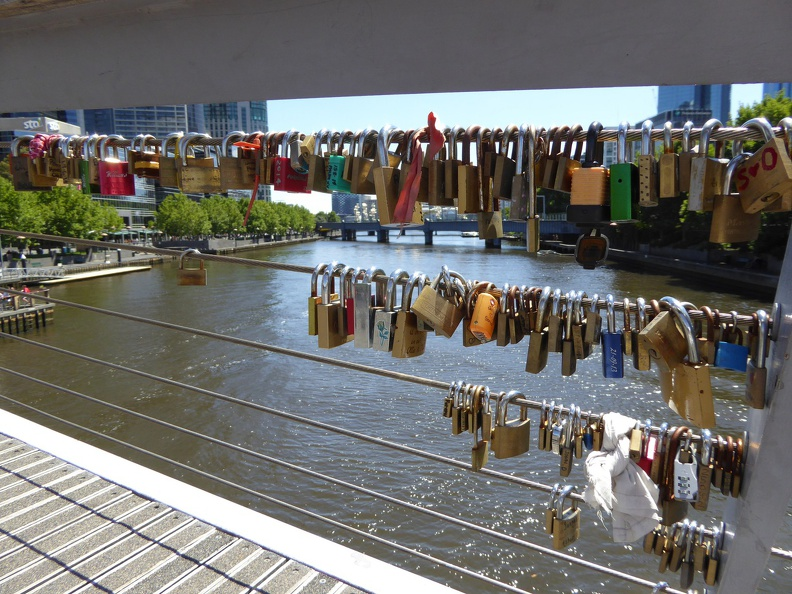 Not the Seine, but still many locks