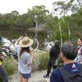 P1000885.JPG -- Our guide in the La Trobe University Wildlife Sanctuary explaining biodiversity and water exchange