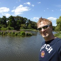 P1000913.JPG -- Me in front of one of the many ponds in Melbourne Royal Botanical Gardens