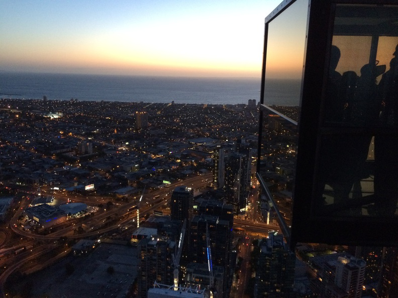 View from Eureka Skydeck 88, the highest viewing platform in the southern hemisphere